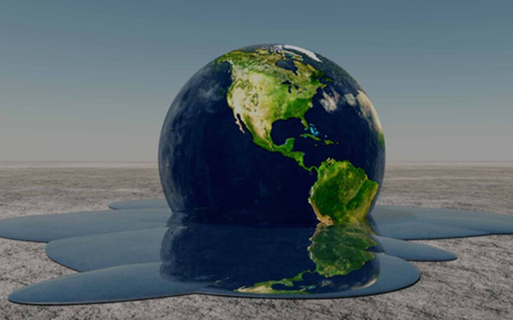planeta tierra derriténdose