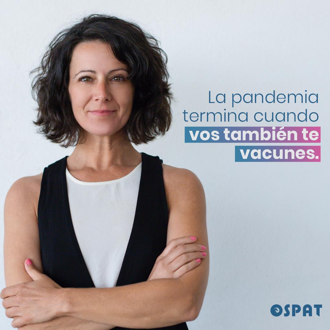 Campaña OSPAT para impulsar la vacunación contra el Covid-19 entre la población indecisa
